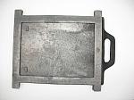 szyber żeliwny duży z czarnym uchwytem 25cm*28cm